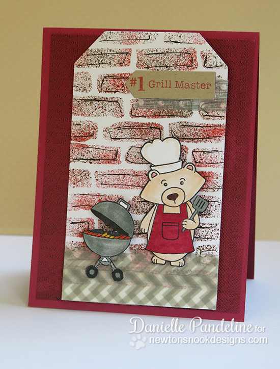 Father's Day Grilling Bear Card by Danielle Pandeline | Winston's BBQ | Newton's Nook Designs