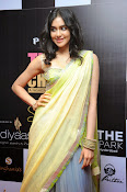 Adah sharma glam pics in saree-thumbnail-15