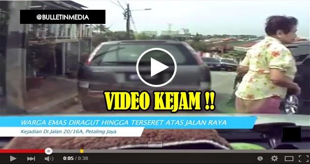 Video: Kejam!! Warga Emas Diragut Hingga Terseret Atas Jalan
