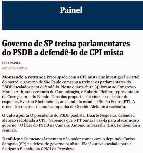Assessores do tucano Geraldo Alckmin controlaram perguntas e ações da CPI da propína do metrô em SP