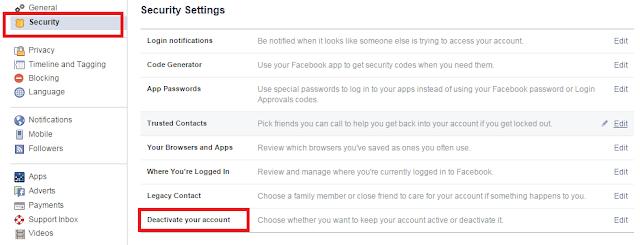 फेसबुक एफ बी अकाउंट को स्थायी अस्थायी रूप से डिलीट करें