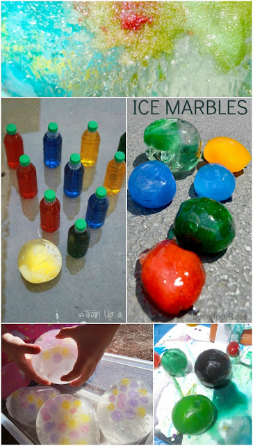 Tons of ways to play with ice marbles