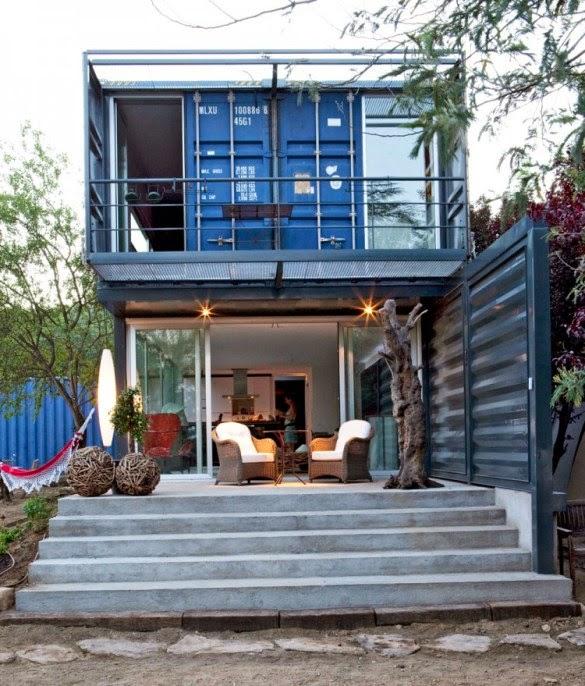 Casas contenedores casa container unifamiliar de 2 pisos - Casa de contenedores ...