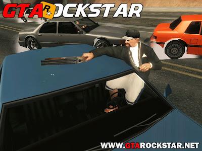 GTA SA - Mod Atirar com Qualquer Arma dentro do Veículo