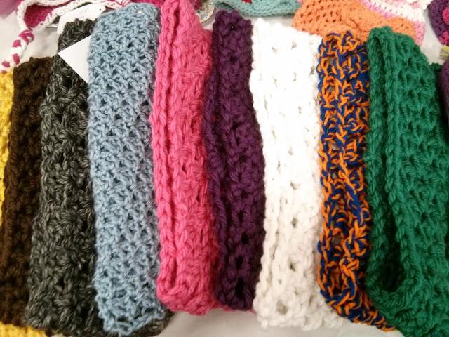 crochet craft fair hats scarves