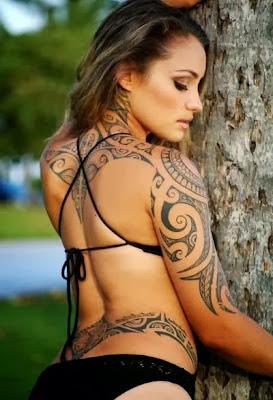 Imagens de Tatuagens Femininas Maori