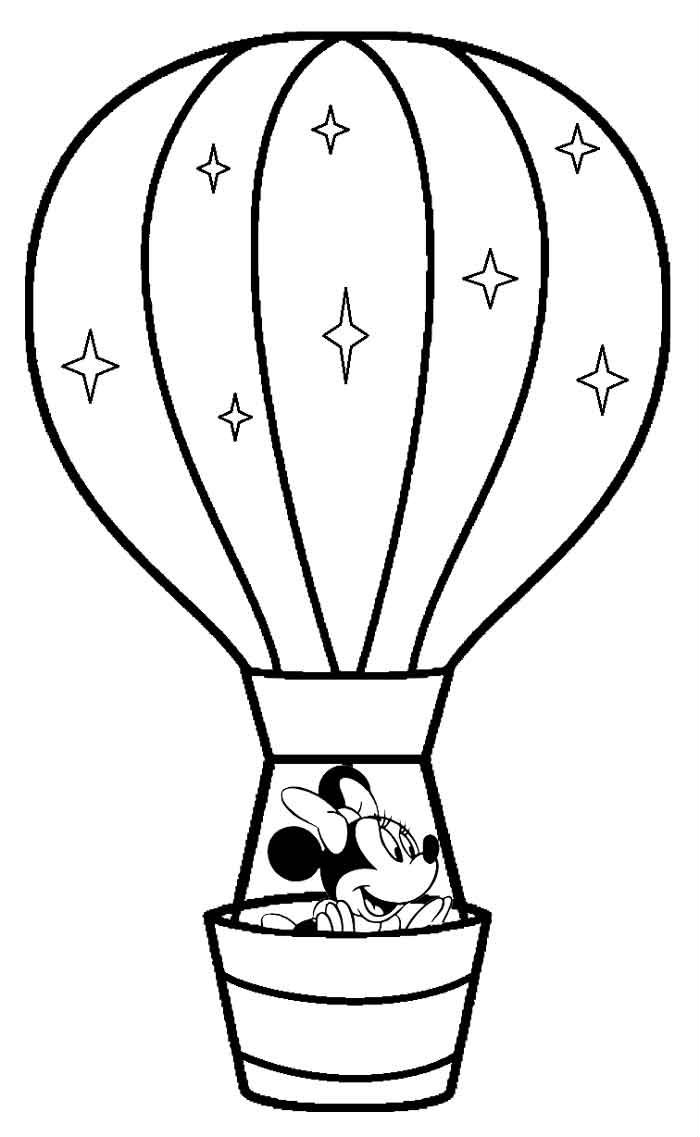 Source hot air balloons picture coloring page
