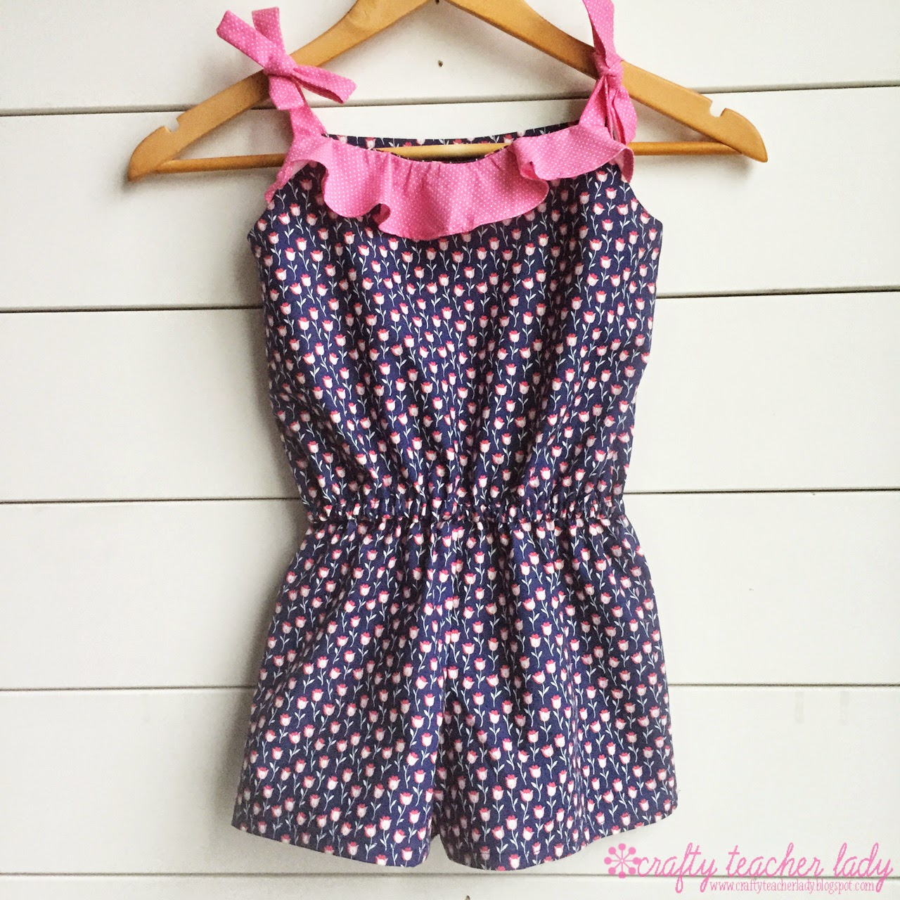 sewing girls romper