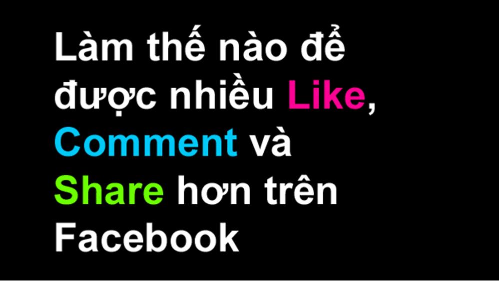 Làm sao để tăng like facebook