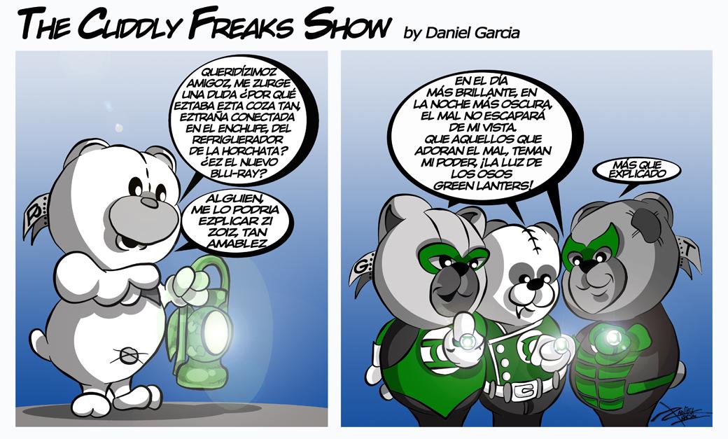 The Cuddly Freaks Show Tira 16: Piensa en Verde
