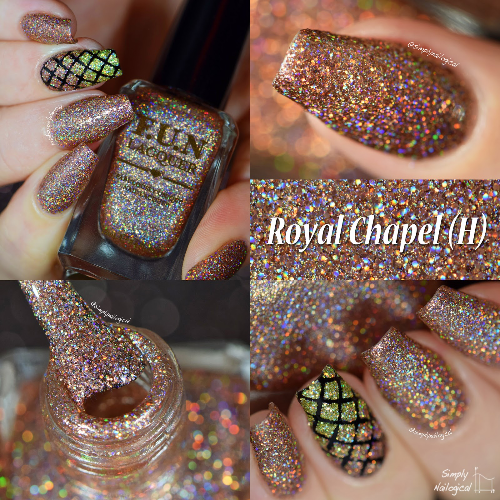 FUN Lacquer Christmas 2014 collection - Royal Chapel (H) swatch