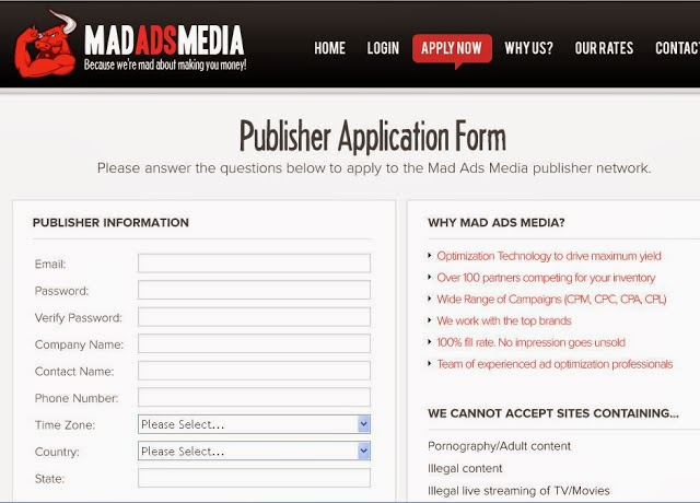 publisher form