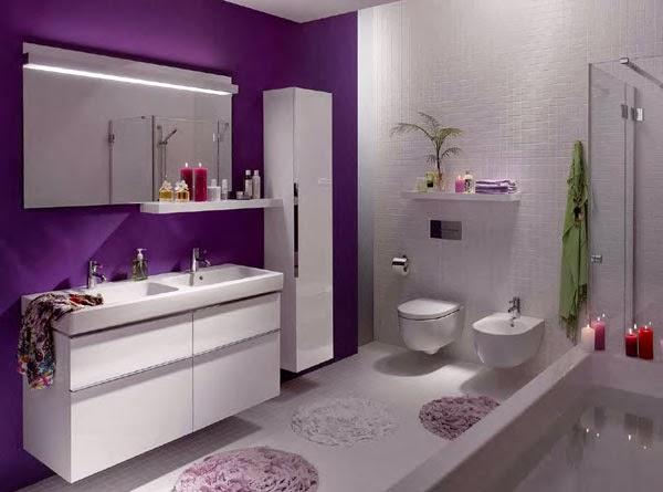 Baños Con Inodoros De Colores:Baños color morado