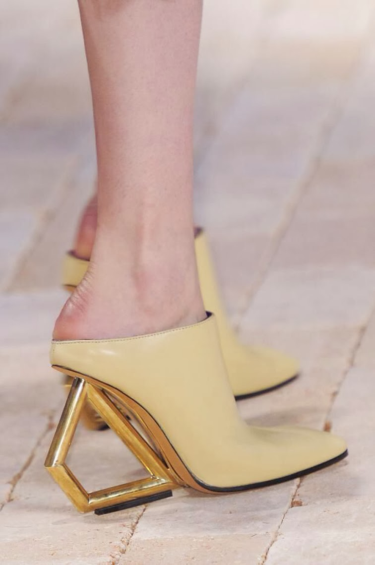 Céline spring summer 2014 runway mules, shoes, footwear, abstract art