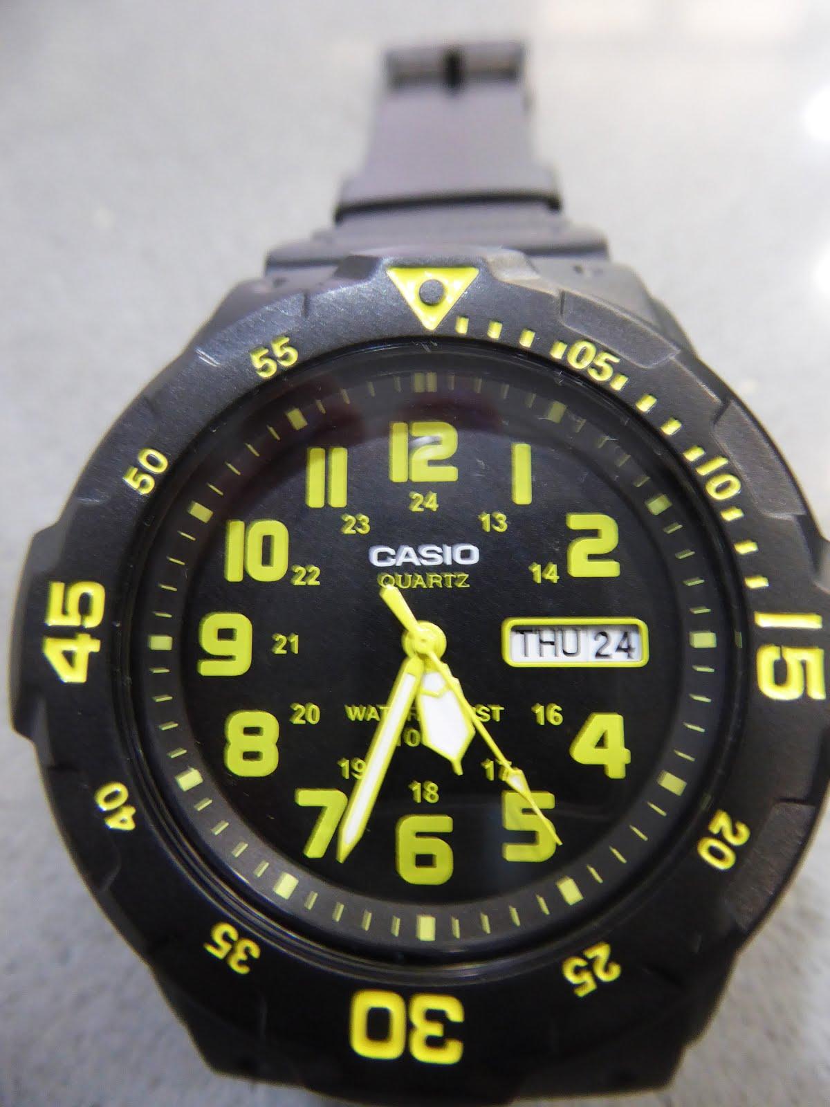 Reloj Casio, sumergible