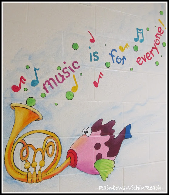 photo of: Mural in Elementary School: Music Theme