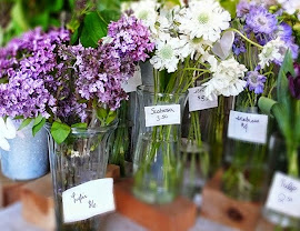 Lilacs, Tulips and Scabiosa flowers in bloom at Fleur in Logan Square.