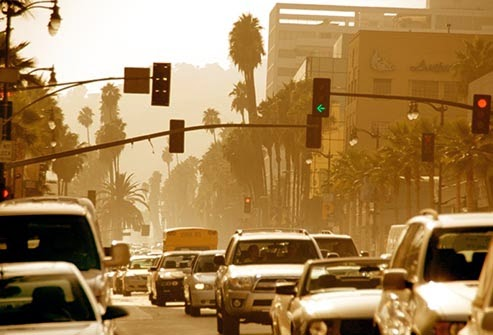 City ozone -- a gas that worsens asthma and COPD and can even shorten your life.  (Credit: www.webmd.com) Click to enlarge.