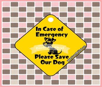 Emergency Sign Dog