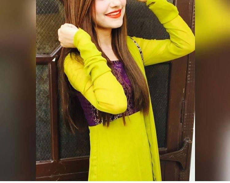 Beautiful girl in yellow dress hide face dp 2016