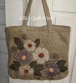 Ullas quilt world quilt bag dress with applique flower publicscrutiny Image collections