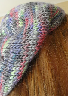 Woolly Wormhead - Meret - free lace beret knitting pattern