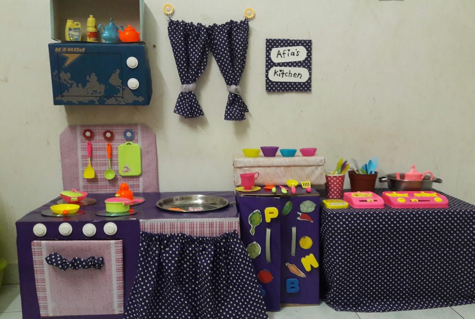 Diy kitchen set untuk afia ini cerita puan kutu for Bikin kitchen set sendiri