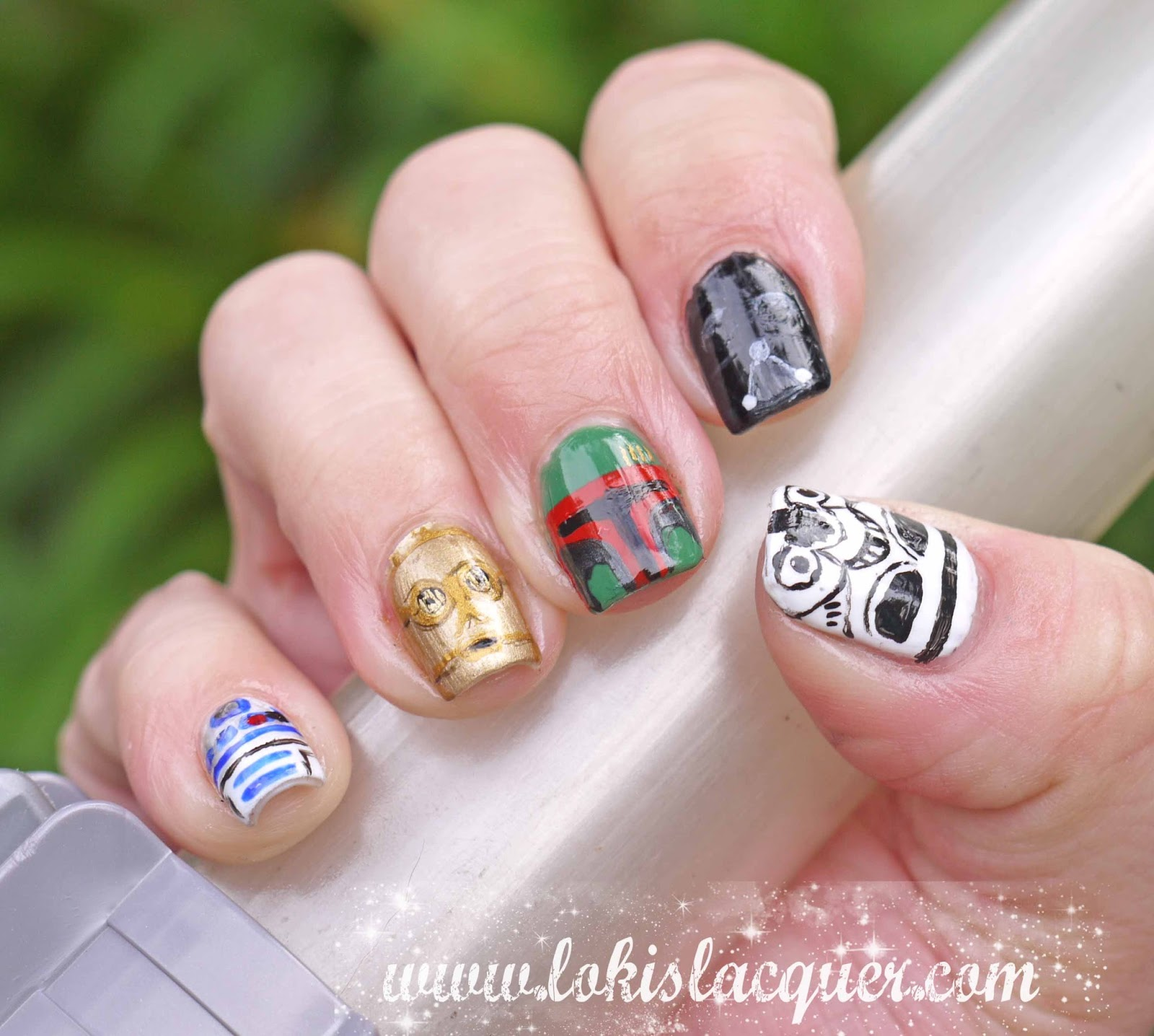 Loki\'s Lacquer: May the 4th be with you........ Star Wars Nails!
