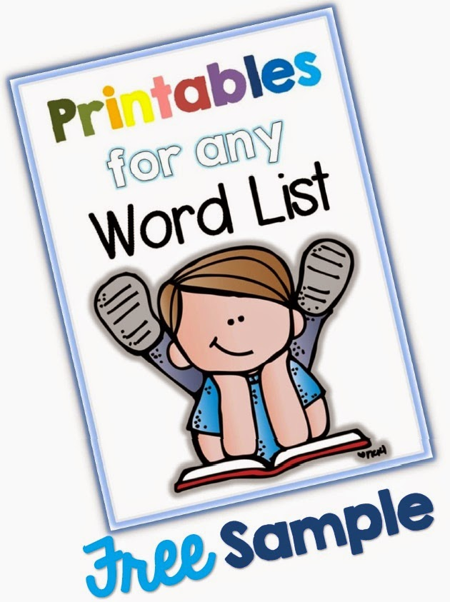 FREE Printables for any Word List Sample Clever Classroom