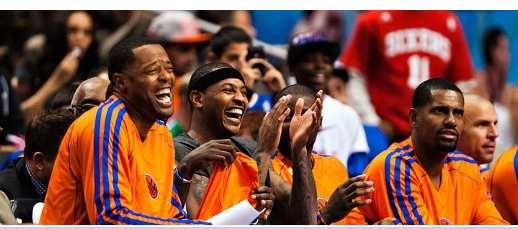 Knicks Marcus Camby Carmelo Anthony Kurt Thomas