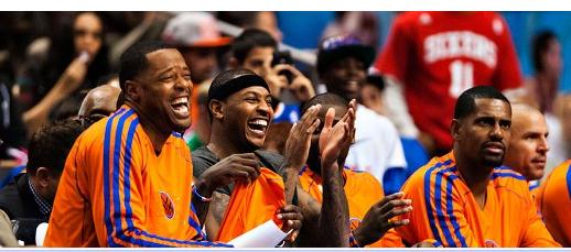 Knicks Marcus Camby Carmelo Anthony Kurt Thomas