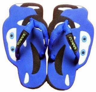 Motif Sandal Sancu Blue cars