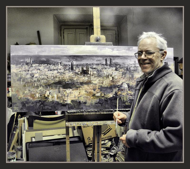 Ernest descals artista pintor barcelona pintura pintar paisajes cuadros panoramica fotos - Pintor economico barcelona ...