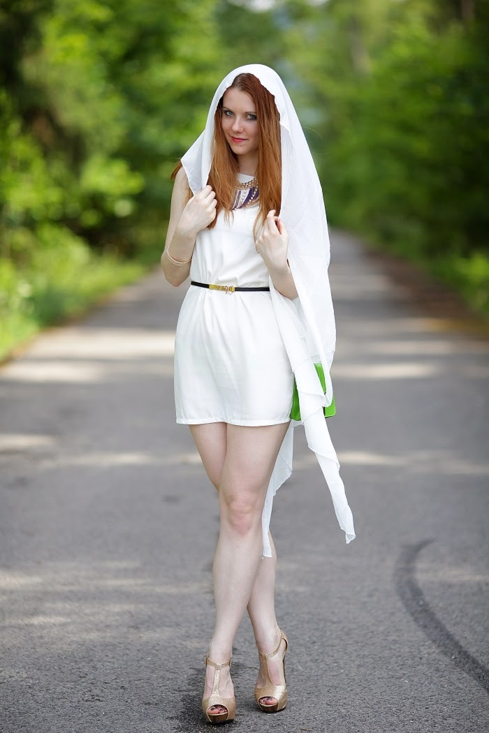 white dress, style without limits. czech blogger, success