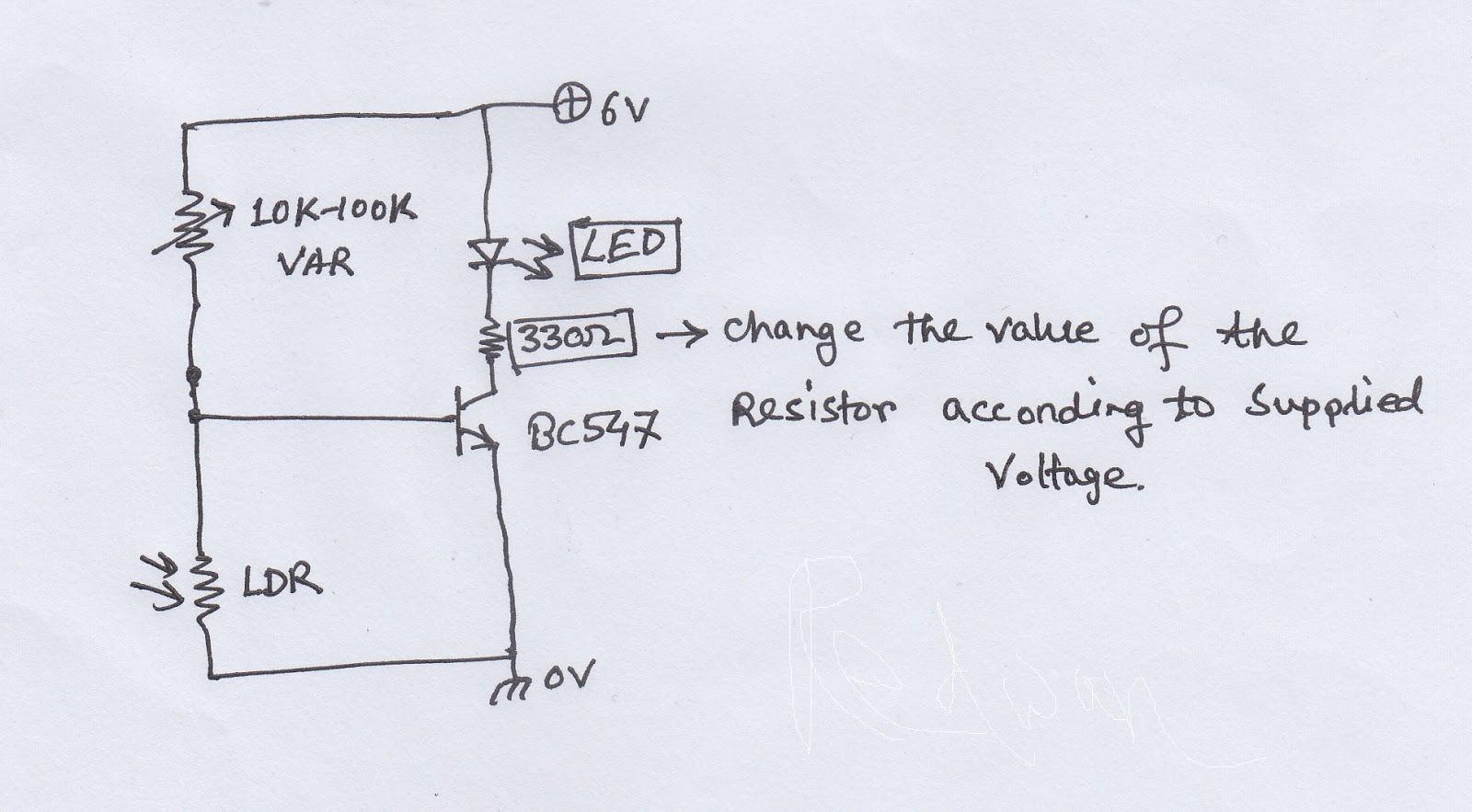 Using a CdS Photo resistor | hobby circuits using ldr