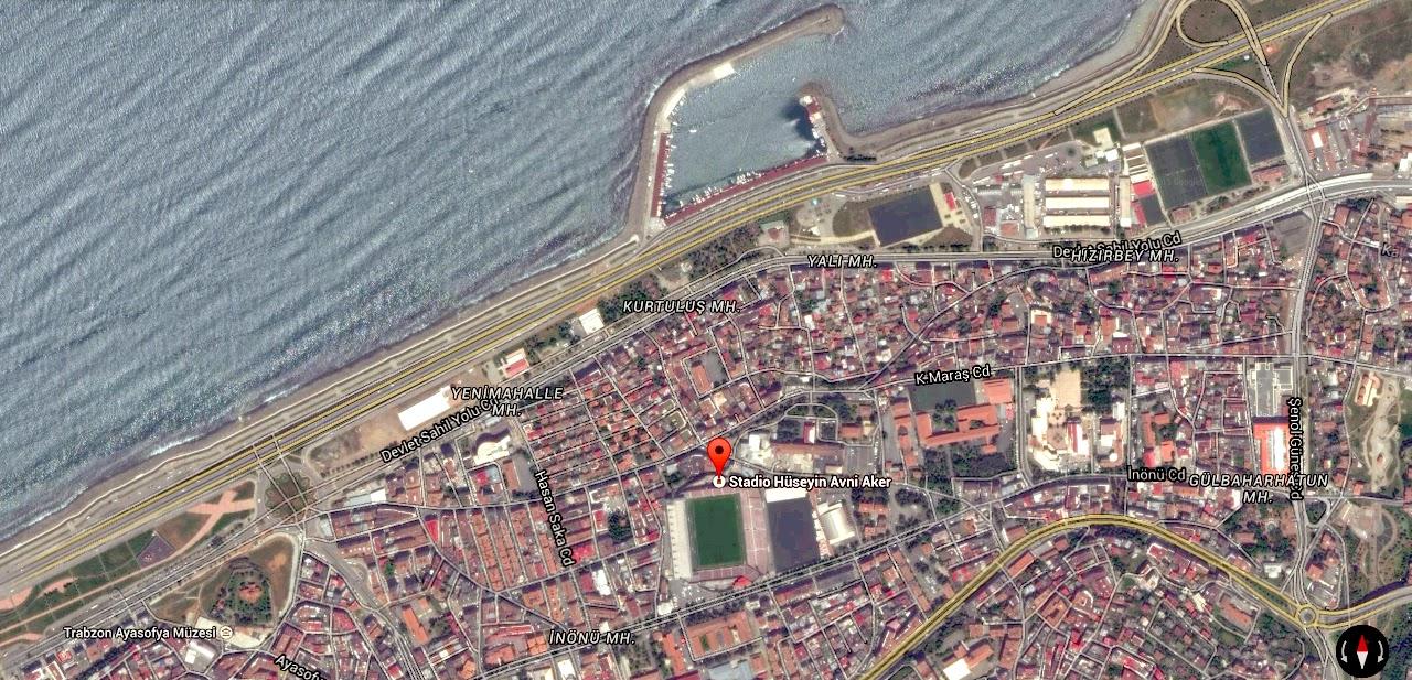 Hüseyin Avni Aker Stadium, Trabzonspor, mappa
