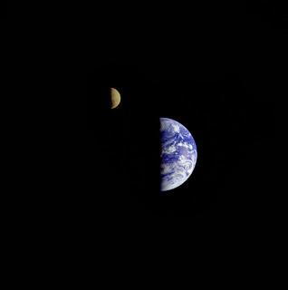 Crescent Earth/Moon