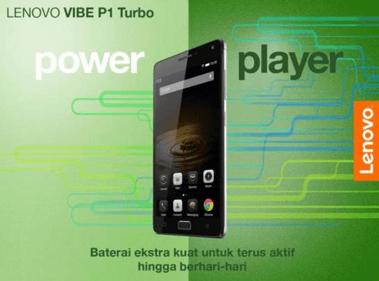 Fitur sensor keamanan sidik jari adalah teknologi unggulan lainnya dari Lenovo VIBE P1 Turbo yang tersemat di tombol Home. Sistem keamanan sidik jari ini akan berfungsi ketika pengguna mulai membuka layar ponsel meraka.