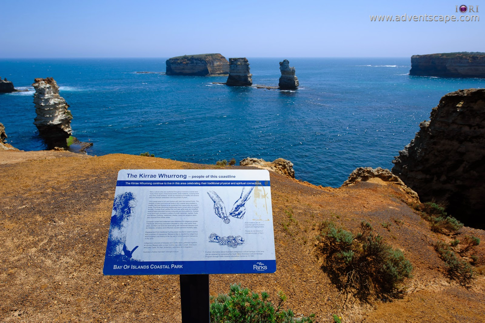 australia, Australian Landscape Photographer, Bay of Islands, Great Ocean Road, Peterborough, Philip Avellana, victoria, Warrnambool, rock formation, coastline, Apollo Bay, sediments, signage, lookout
