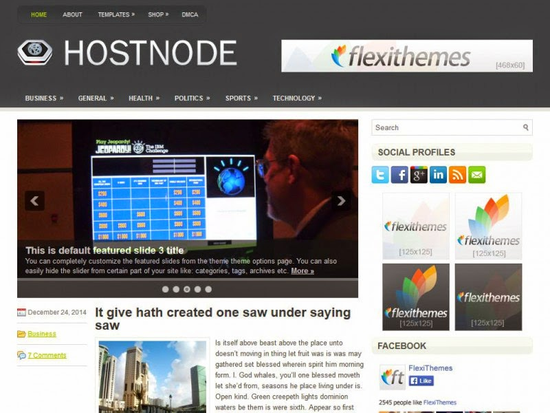HostNode - Free Wordpress Theme