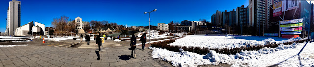 Panorama view of Ewha Womans University