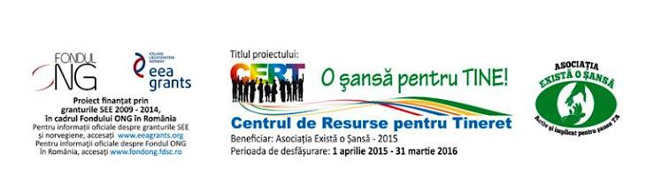 CERT, o şansă pentru tine – Centrul de Resurse pentru Tineret