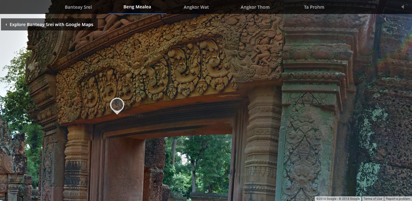 Google Street View in Prasat Bantey Srey
