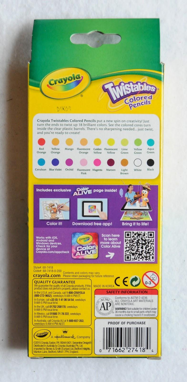 2015 30 twistables colored pencils - Crayola Colored Pencils Twistables