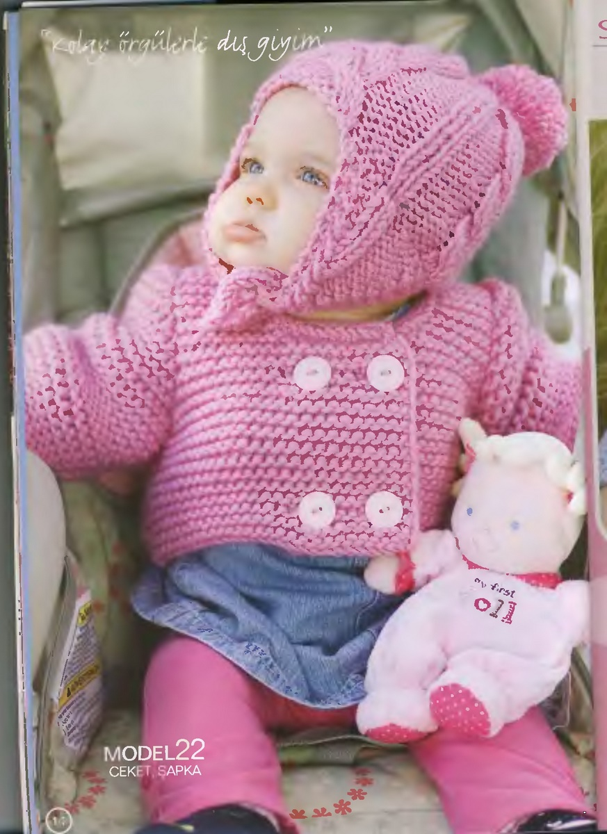 Вязание шапочки на 6 месяцев девочки 22