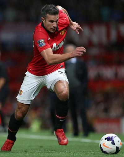 Robin Van Persie Manchester United v Chelsea 2013