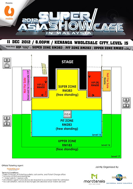 2012 ASIA SUPER SHOWCASE IN MALAYSIA Seating Plan