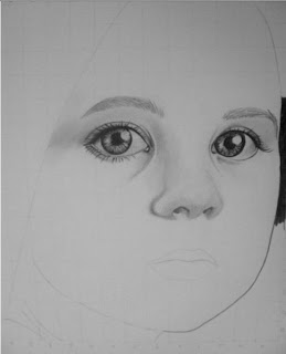 draw young girl's face - step 3
