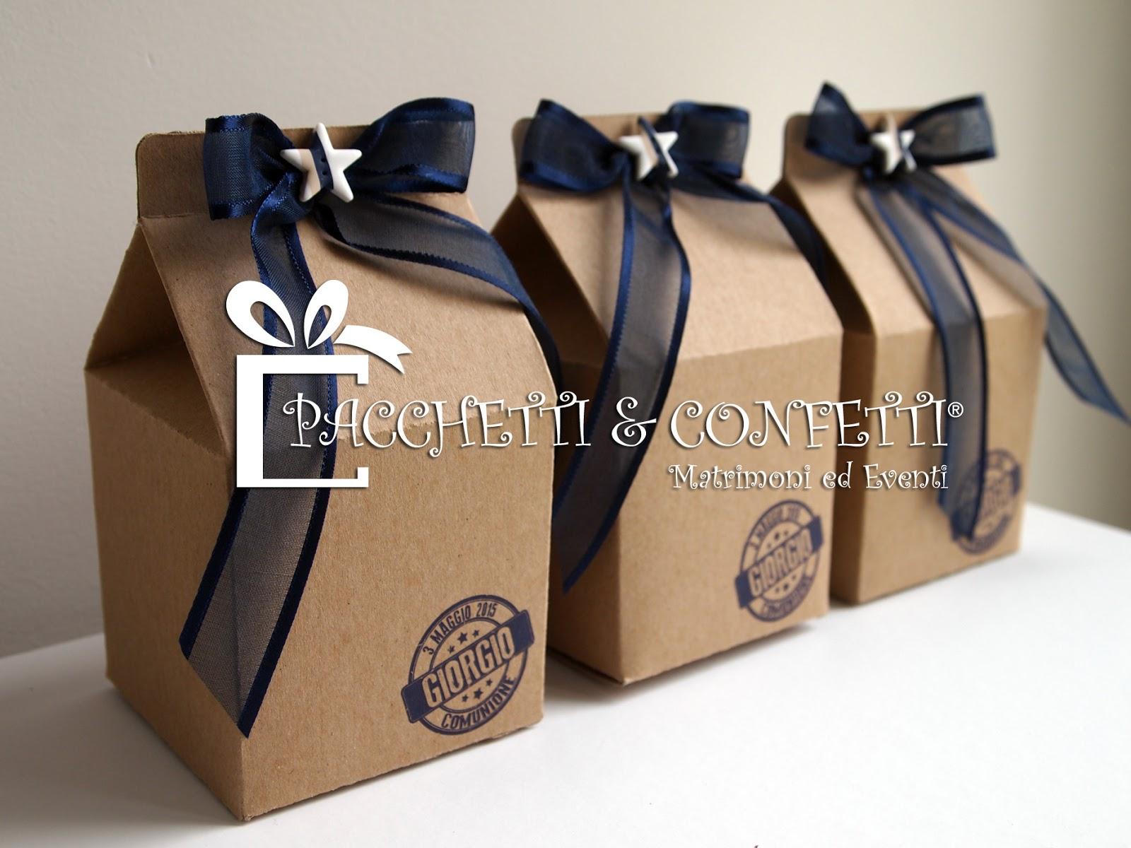 Conosciuto Pacchetti e Confetti: Bomboniere con bulbi: Milk Box per Comunione HT05