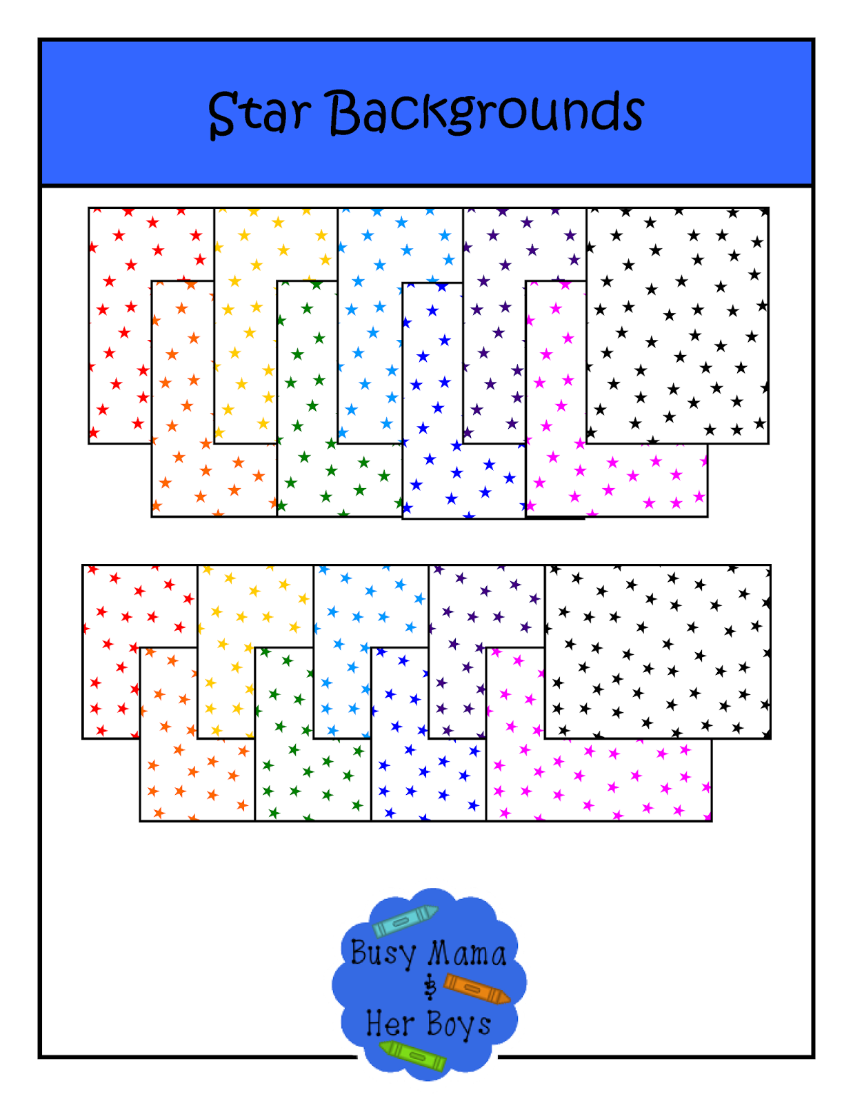 http://www.teacherspayteachers.com/Product/Star-Backgrounds-1390225